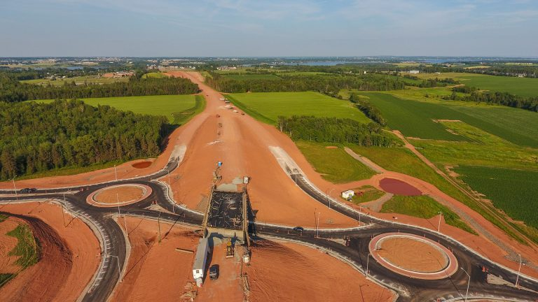 The Cornwall Bypass Construction Project - Drone Photography by Odyssey Virtual PEI